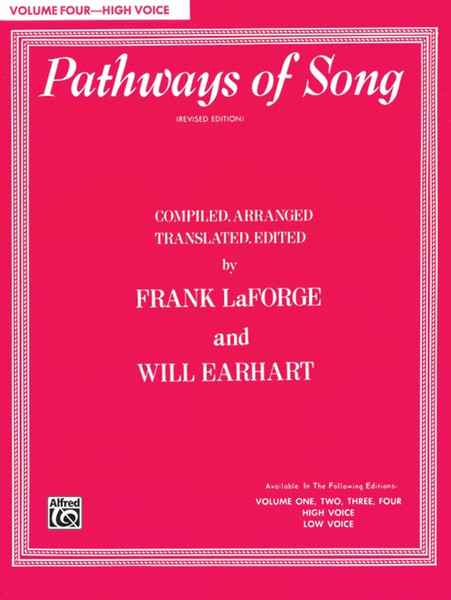 Pathways of Song (Revised Edition) Volume 4 - High Voice (Book Only)