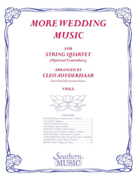 More Wedding Music - arr. Cleo Aufderhaar (String Quartet) - Viola