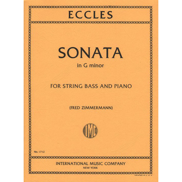 Eccles - Sonata in G Minor for String Bass and Piano by Fred Zimmerman