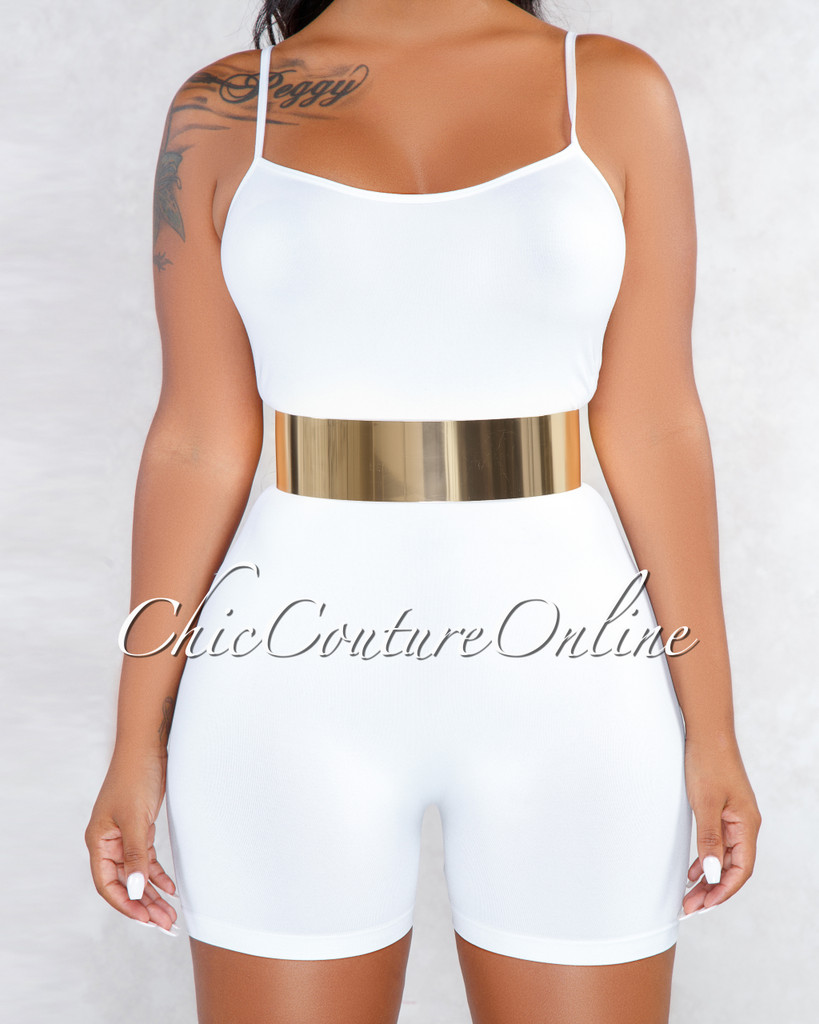 Chester Gold Plate Thick Bendable Belt