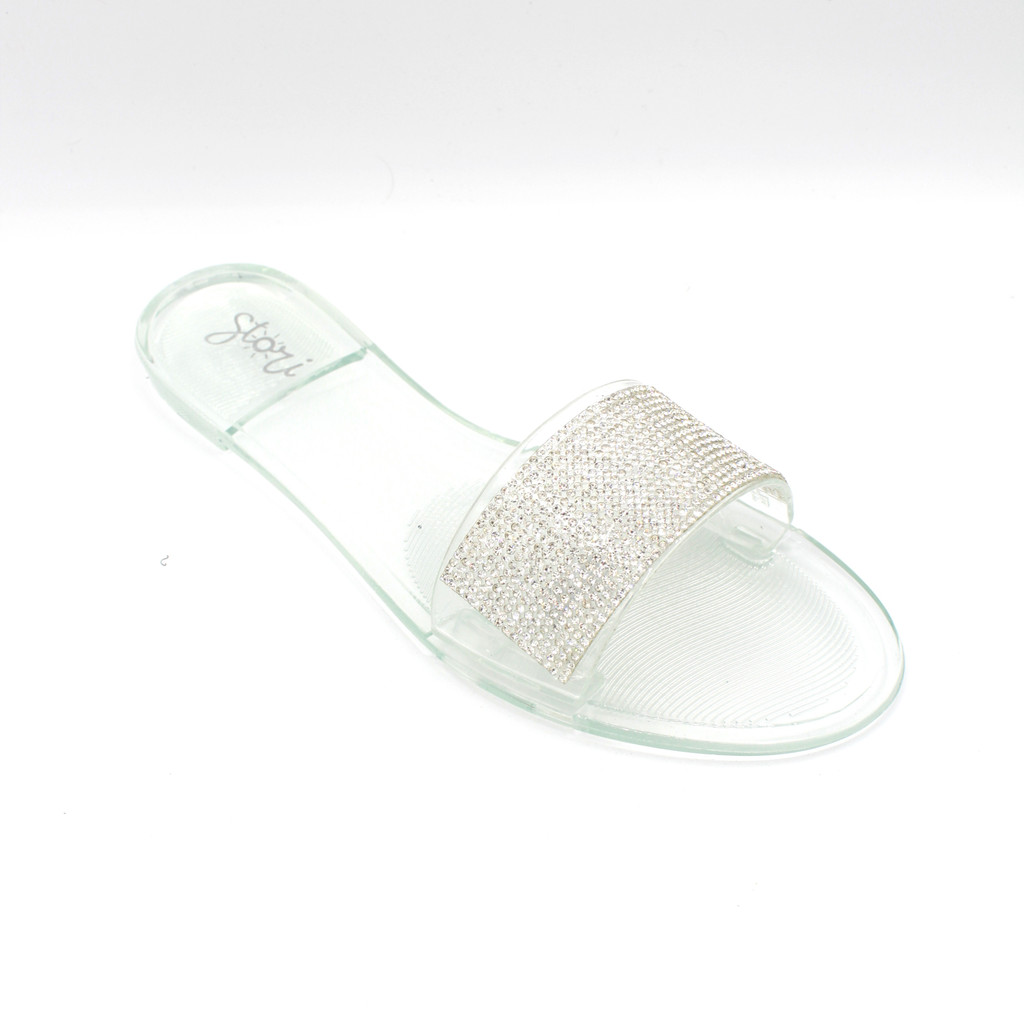 Glam Clear Rhinestones Upper Slides