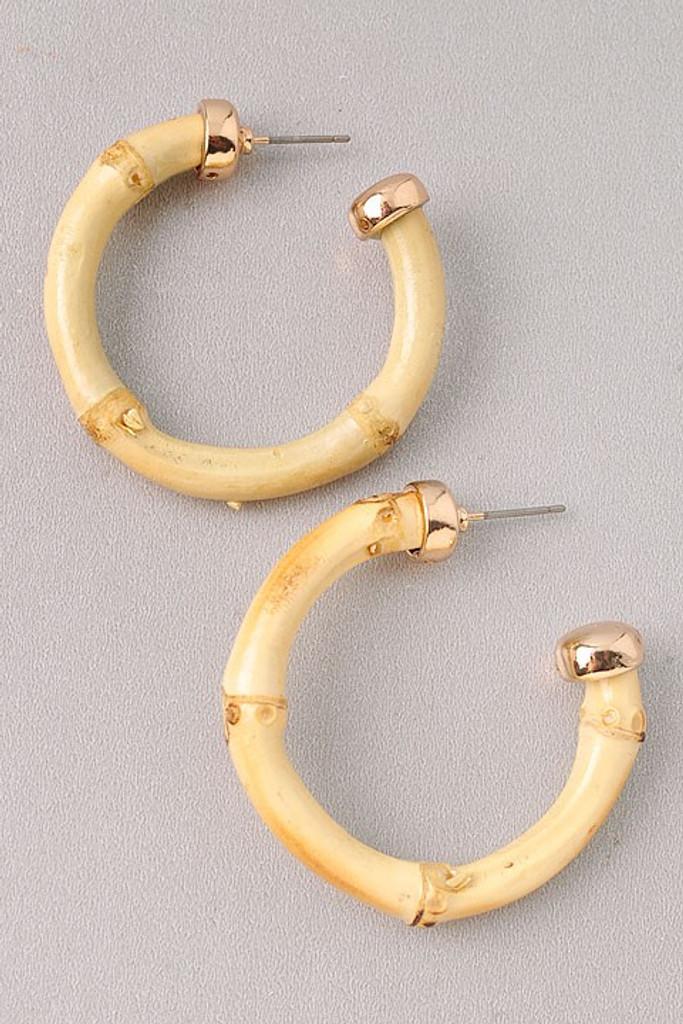 Somara Ivory Hoop Earrings