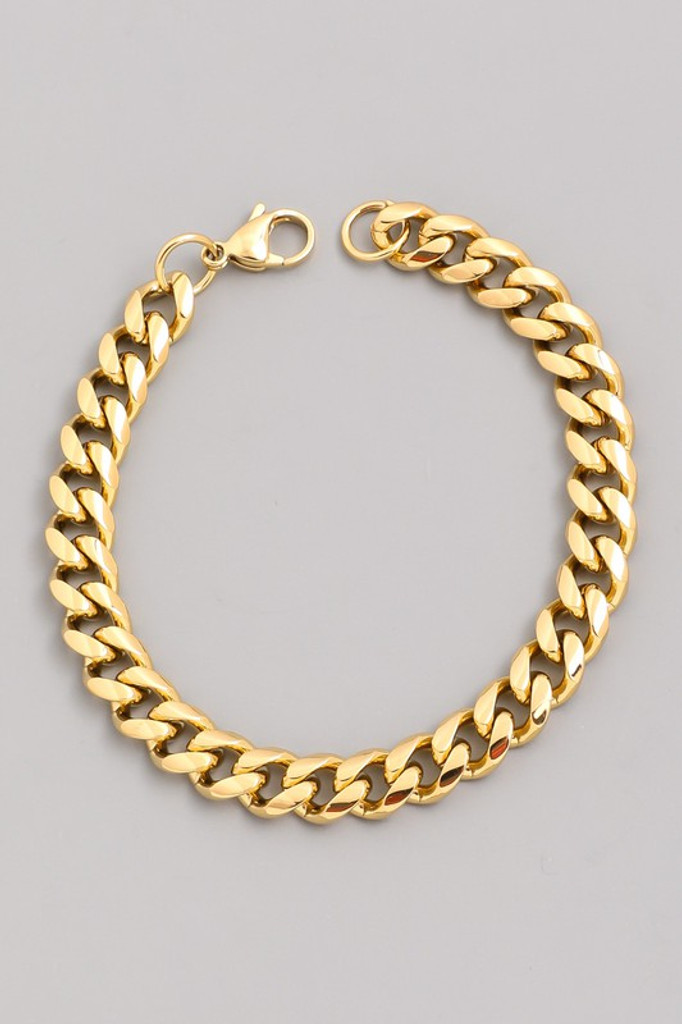 JayJay Gold Curb Gold Chain Bracelet
