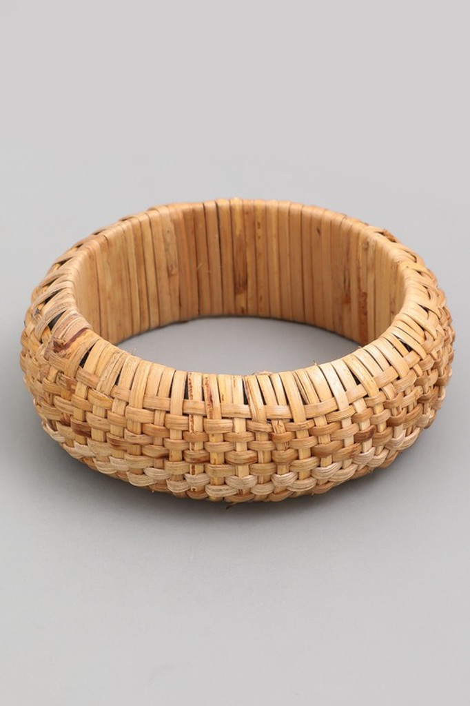 Shawna Woven Straw Bangle Bracelet