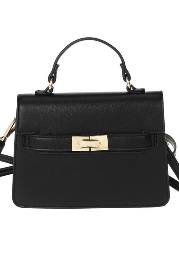 Carolyn Black Small Satchel Bag