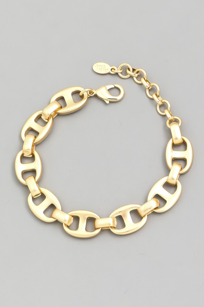 Dinna Gold Anchor Chain Bracelet