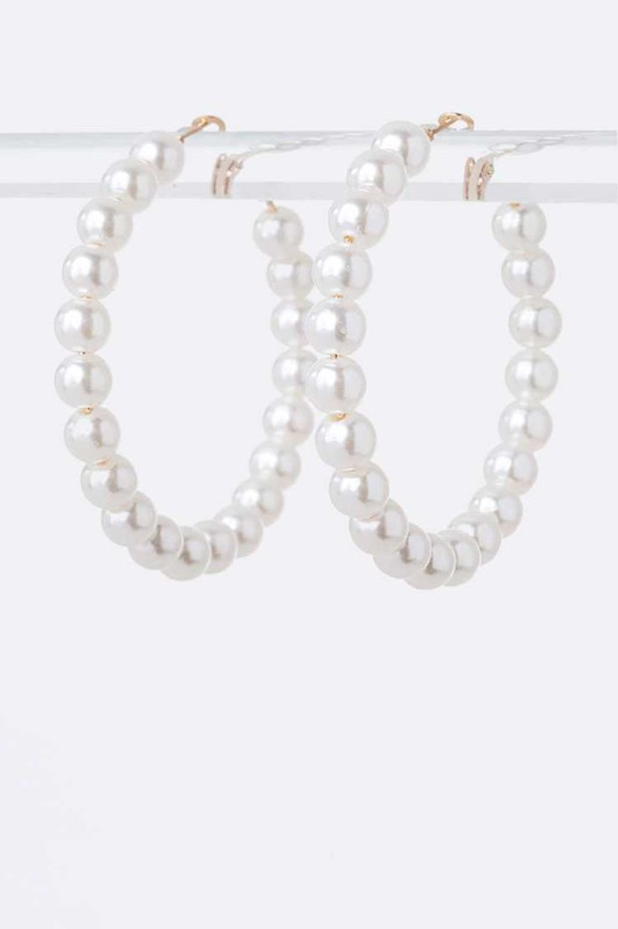 Stilla Pearl Hoop Earrings