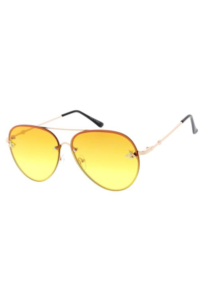 Suri Yellow Bee Sunglasses