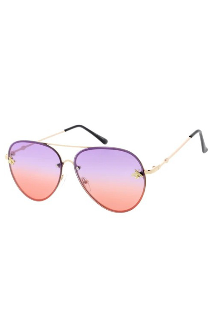 Suri Purple/Red Gradient Bee Sunglasses