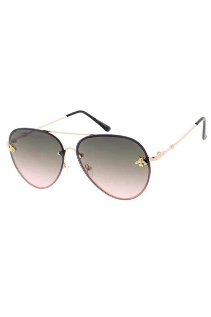 Suri Plain Black Bee Sunglasses