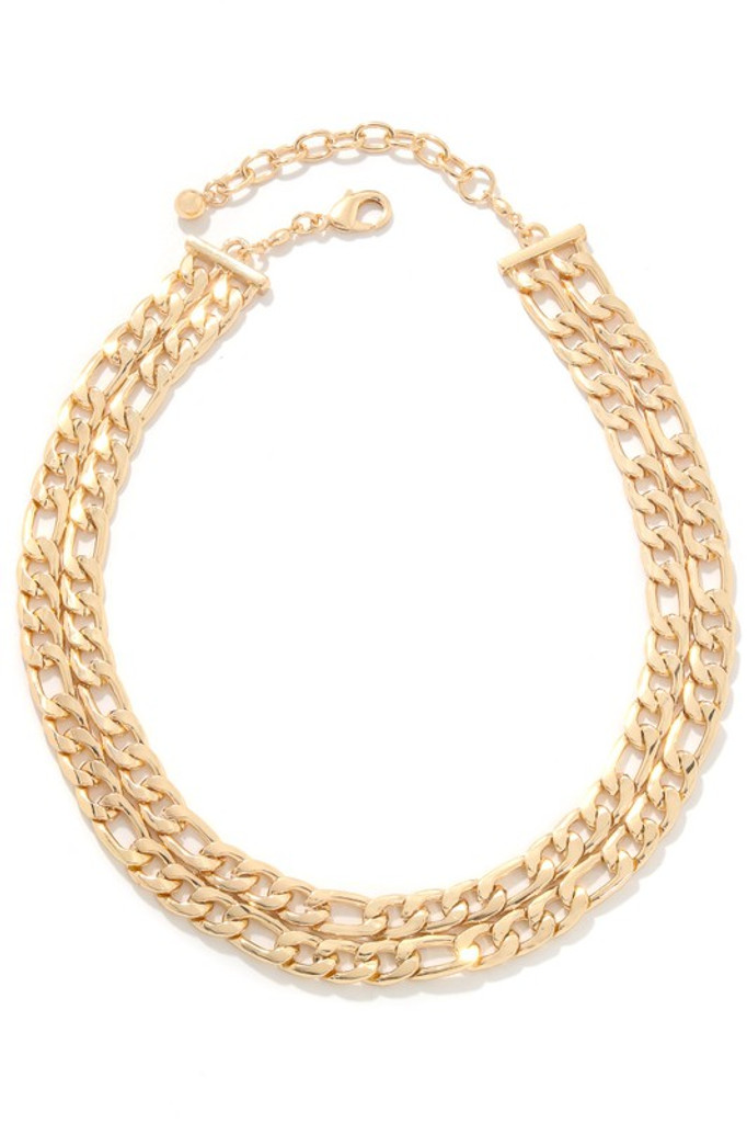 Martha Gold Layered Chain Link Necklace
