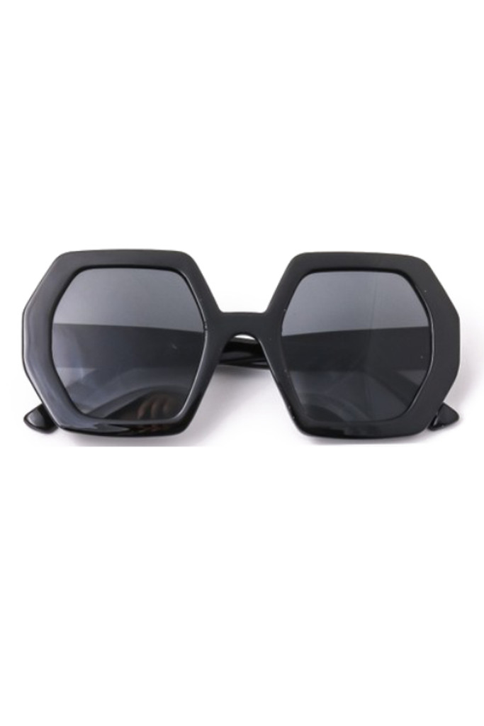 Oxxa Black Hexagon Sunglasses