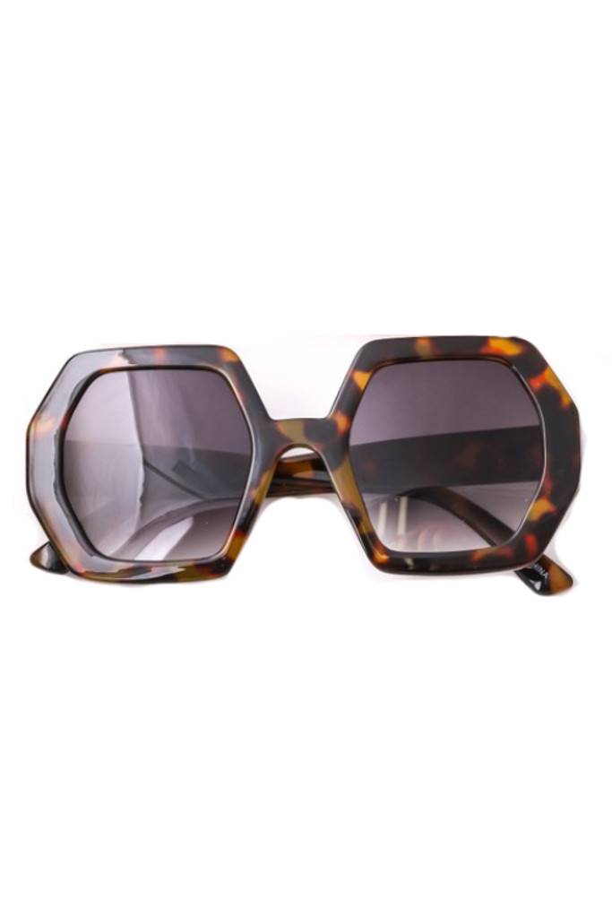 Oxxa Tortoise Hexagon Sunglasses