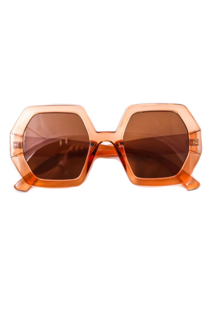 Oxxa Blush Hexagon Sunglasses