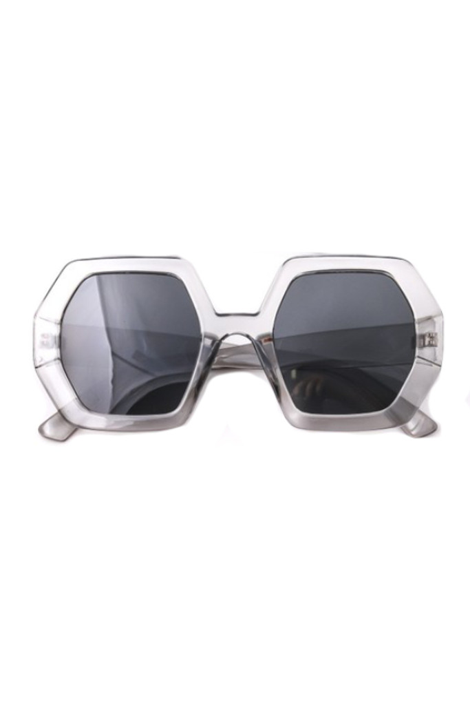 Oxxa Grey Hexagon Sunglasses