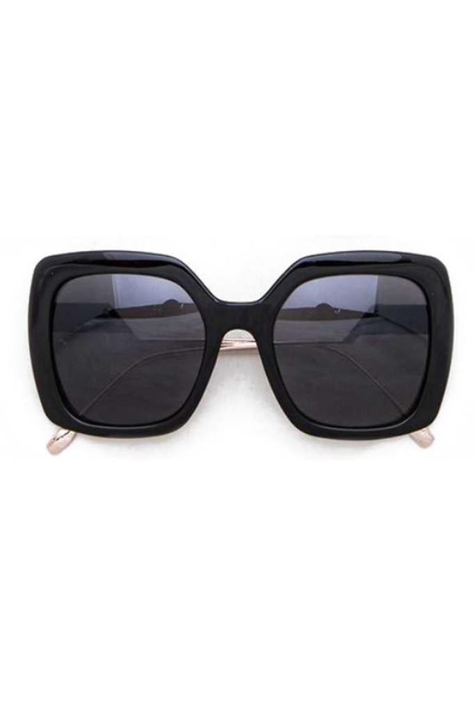 Medona Black Square Sunglasses