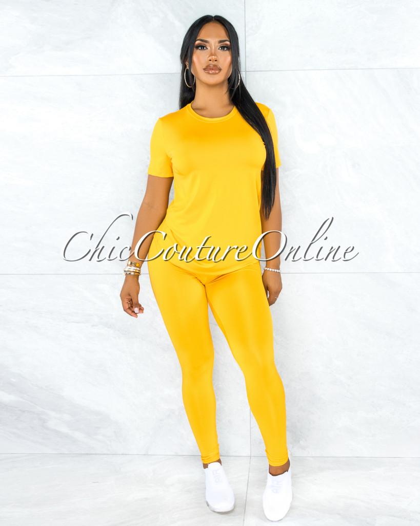 Batista Yellow Shirt & Leggings Set
