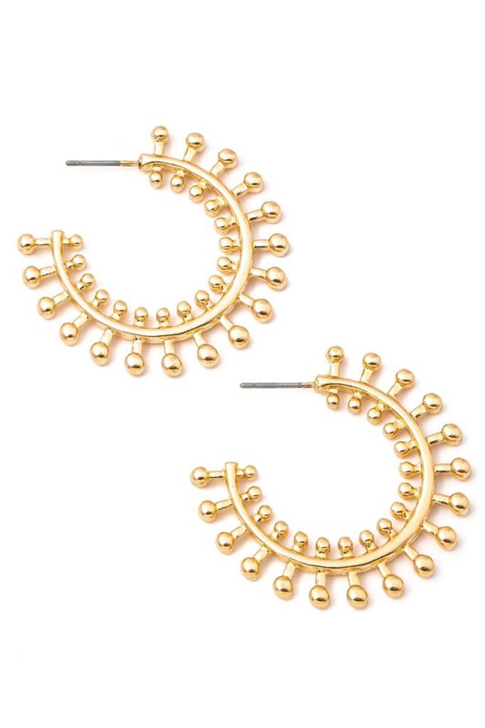 Teddi Gold Intricate Metallic Hoop Earrings
