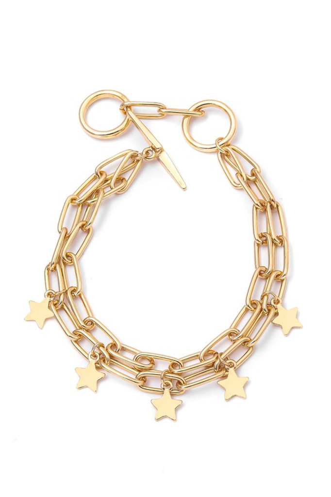 Andy Gold Star Charm Bracelet