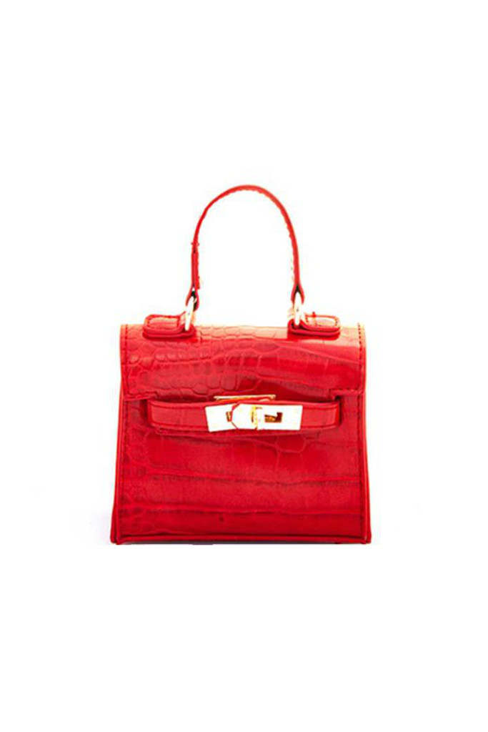 Carro Red Mini Satchel Bag