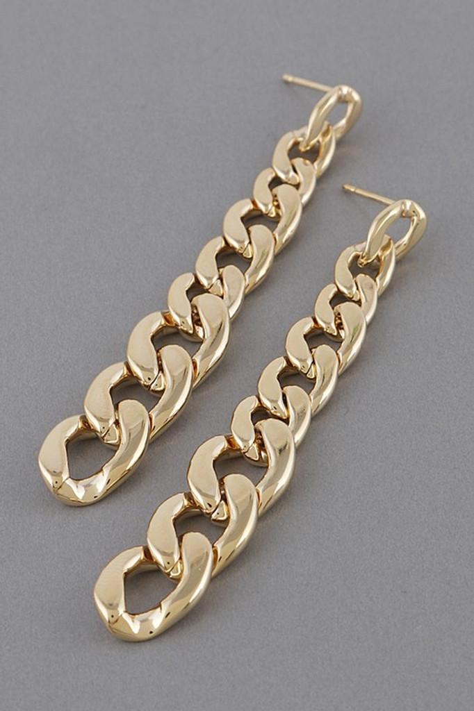 Klara Gold Chain Drop Earrings