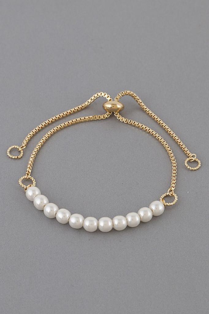 Blake Gold Pearl Beads Bracelet