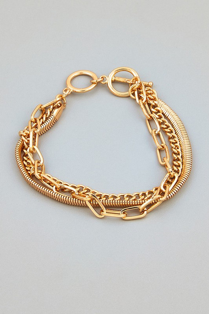 Becca Gold Assorted Toggle Chain Bracelet
