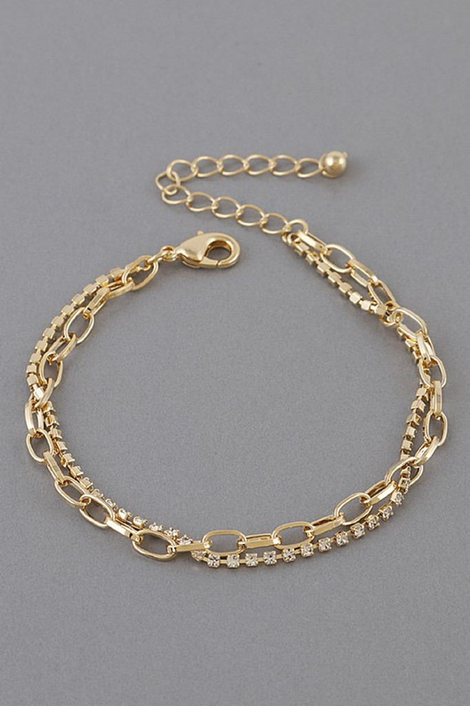 Chasen Gold Double Layered Bracelet