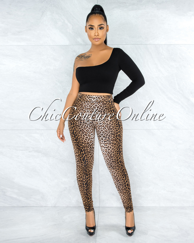 Saloma Leopard Print Leggings