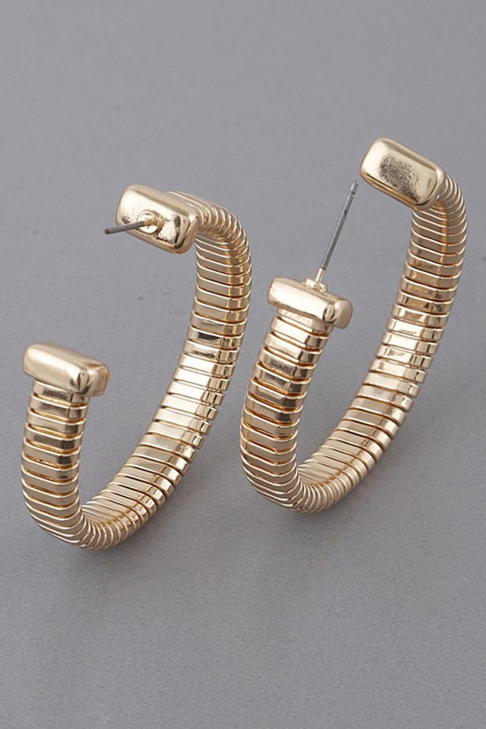 Britnee Gold Unique Hoop Earrings