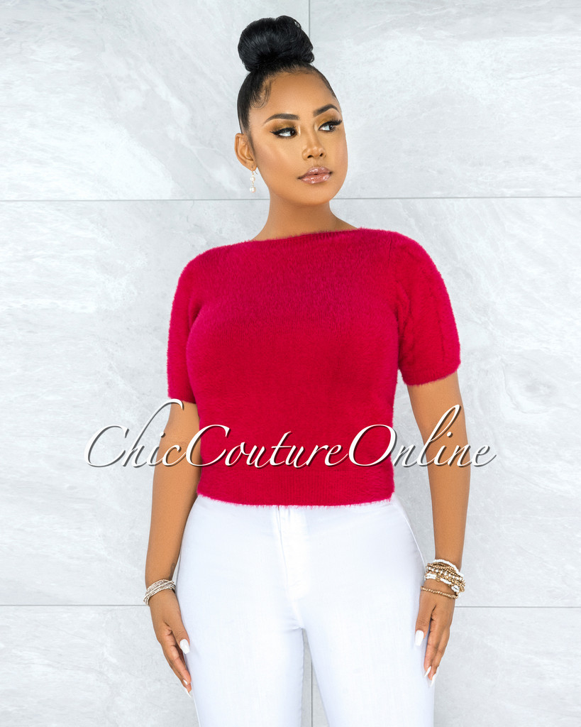 Prospera Raspberry Red Fury Round Neck Top