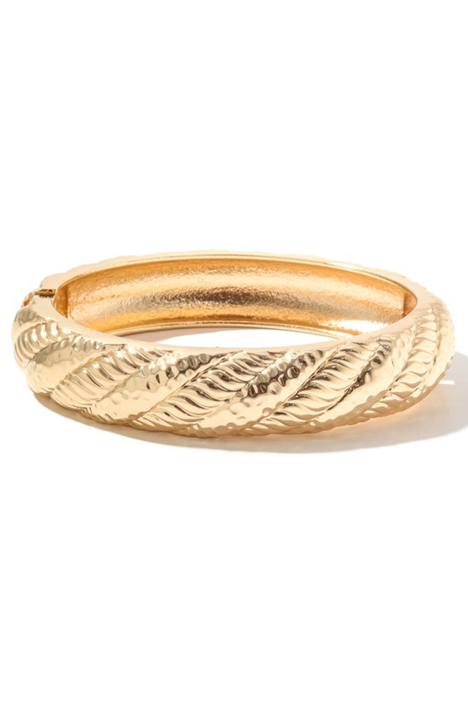 Sammy Gold Rope Twist Bangle Bracelet