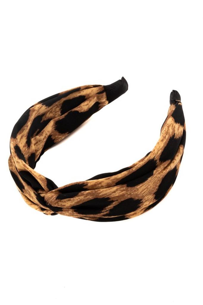 Gloria Leopard Print Knotted Headband