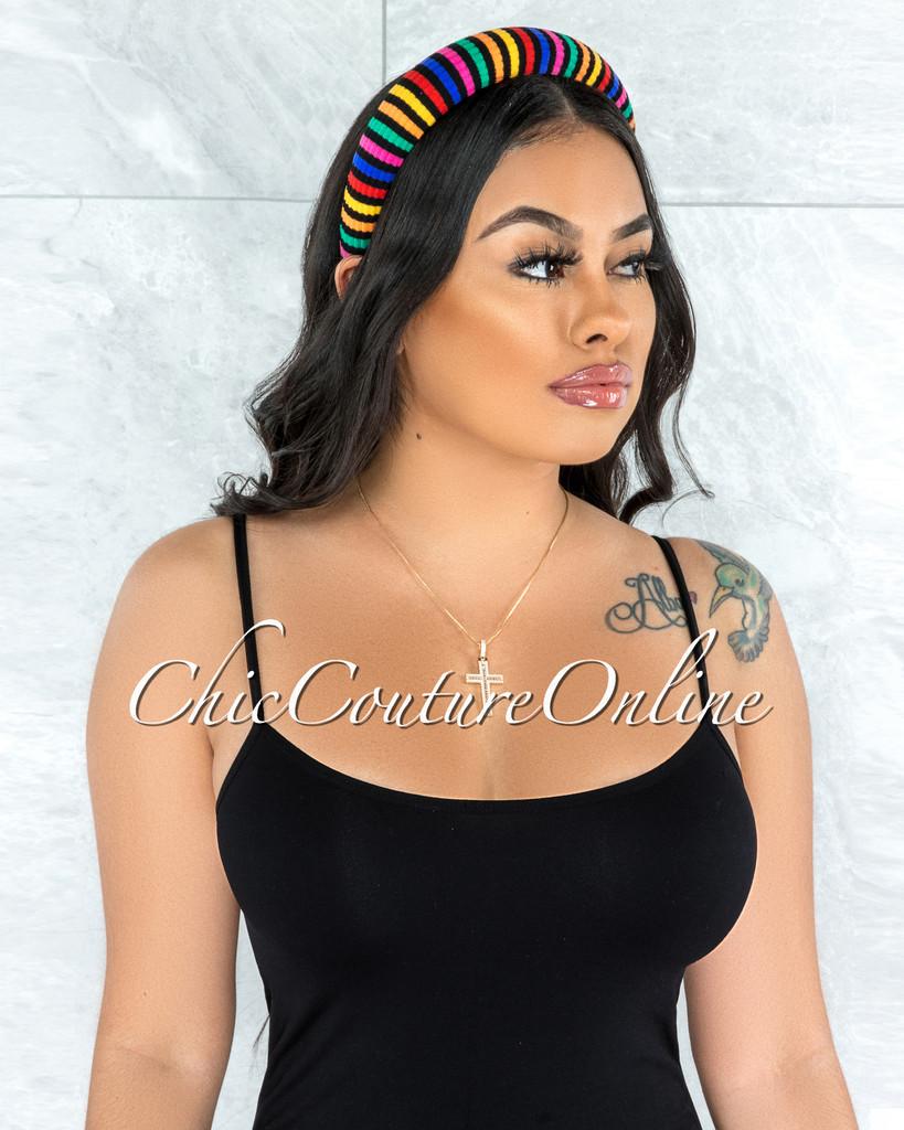 Shah Multi Color Striped Headband