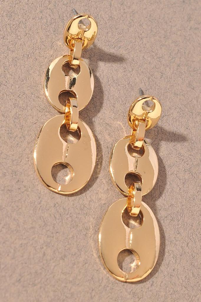 Drew Gold Chain Dangle Earrings