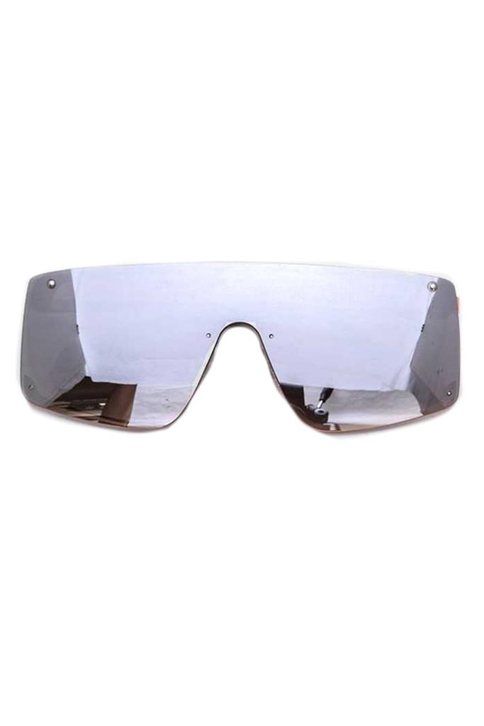 Cynthia Silver Rectangular Sunglasses