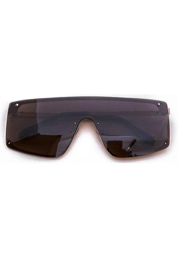 Cynthia Brown Rectangular Sunglasses