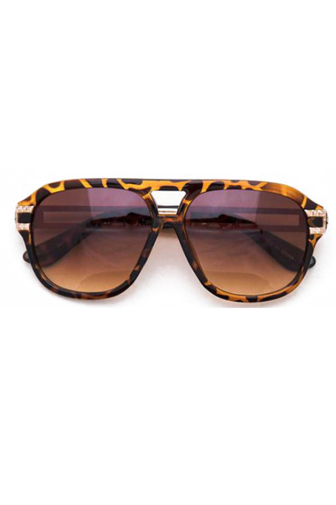 Sonja Tortoise Aviator Sunglasses