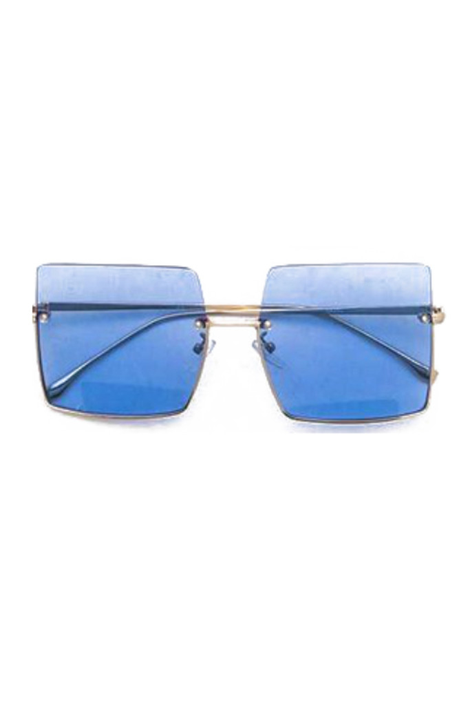 Jeremy Blue Square Sunglasses
