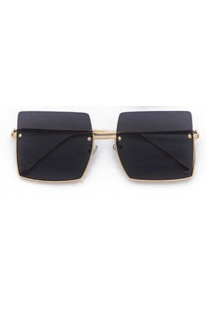 Jeremy Black Square Sunglasses