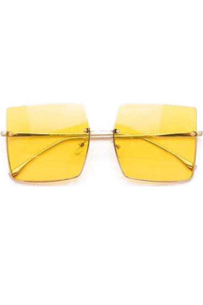Jeremy Yellow Square Sunglasses