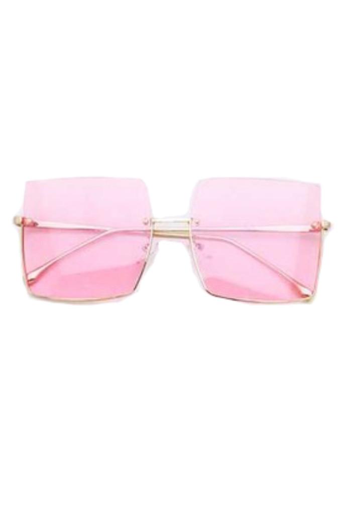 Jeremy Pink Square Sunglasses