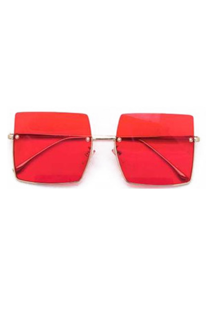 Jeremy Red Square Sunglasses