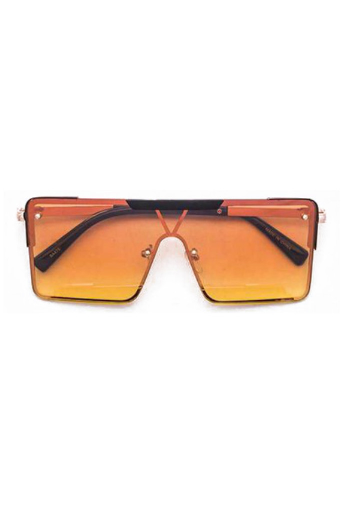 Gabe Smoke Orange Square Sunglasses