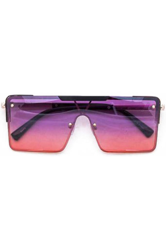 Gabe Purple Red Square Sunglasses