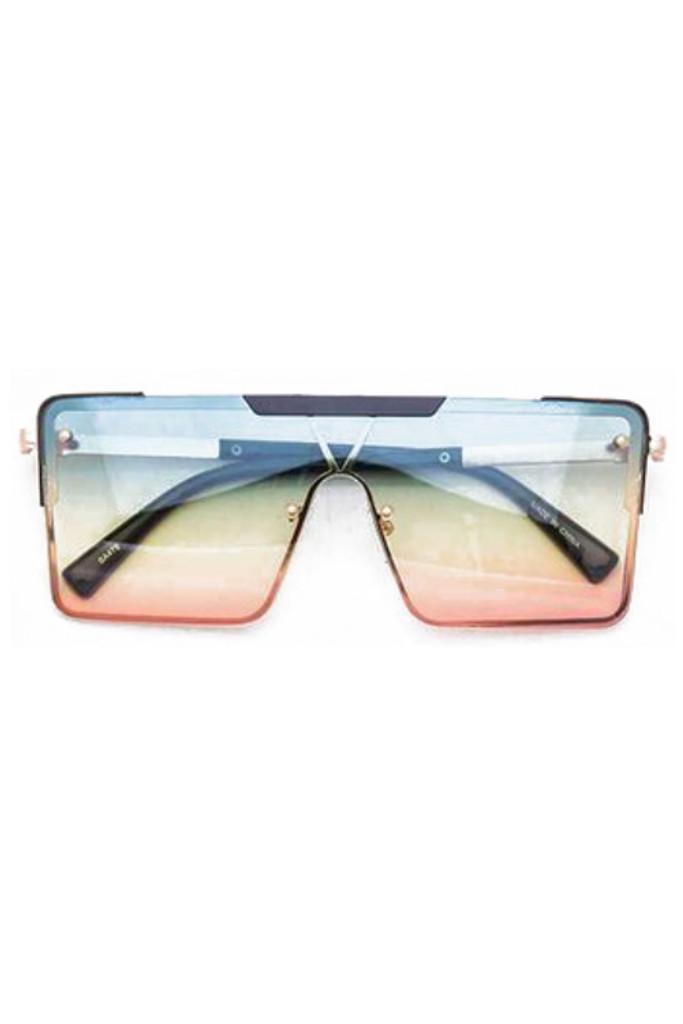 Gabe Green Pink Square Sunglasses