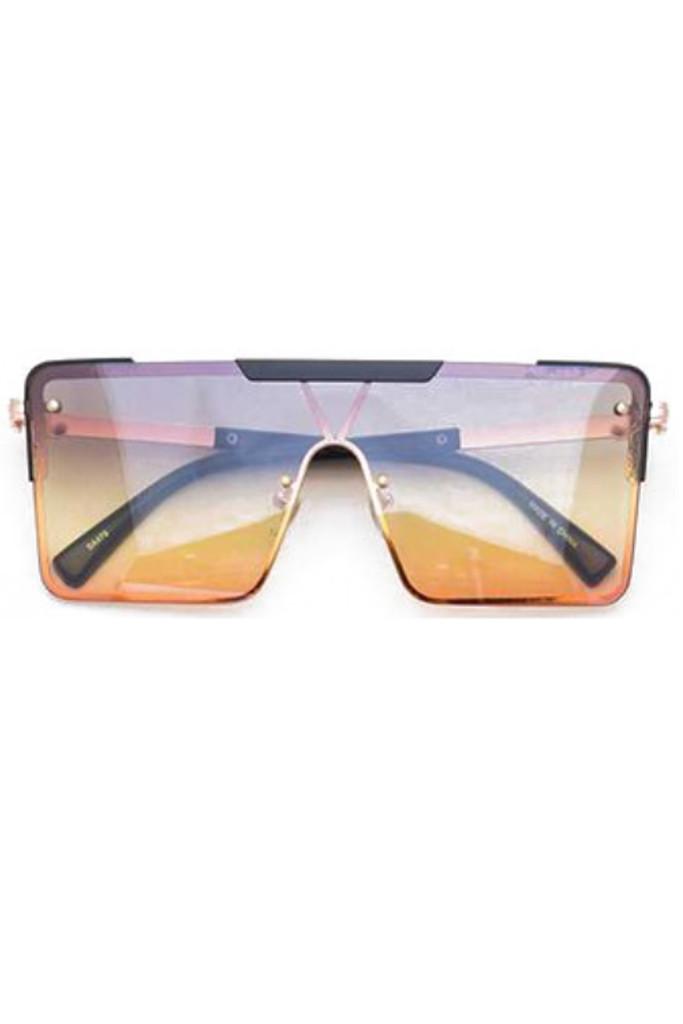 Gabe Orange Square Sunglasses