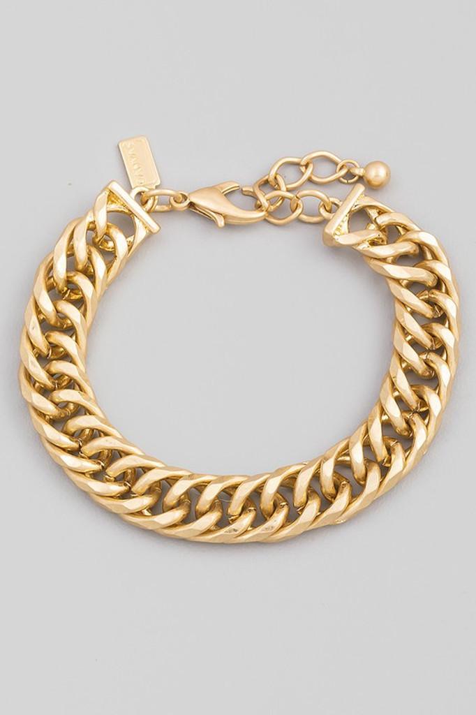 Samantha Gold Chain Link Lobster Clasp Bracelet