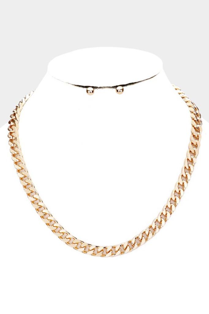 Kazu Gold Metal Chain Necklace