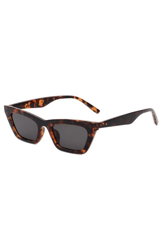 Camilla Tortoise Retro Slim Cat Eye Sunglasses